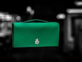 【名包回收鉴定】Dior Gem Clutch 绿色缎面晚宴手包-祖母绿与玫瑰花
